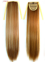 cheap -Straight Synthetic Hair Piece Hair Extension 18 inch Rainbow