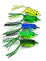 cheap -5 pcs Soft Bait Fishing Lures Soft Bait Frog Sinking Bass Trout Pike Sea Fishing Freshwater Fishing Lure Fishing Hard Plastic