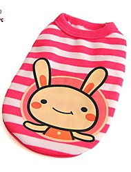 cheap -Cat Dog Shirt / T-Shirt Dog Clothes Pink Costume Cotton Cartoon Casual / Daily 6 8 4