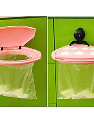 billige -bærbare plast mini sucker affaldssæk bøjle papirkurven rack krog holder (tilfældig farve)