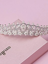 cheap -Pearl / Rhinestone / Alloy Tiaras / Headwear with Floral 1pc Wedding / Special Occasion Headpiece