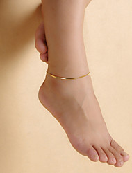 cheap -Women's feet jewelry Cheap Simple Vintage Party Work Casual Anklet Jewelry Screen Color For Beach