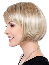cheap -Synthetic Wig Straight Straight Bob Wig Blonde Short Blonde Synthetic Hair Women's Blonde StrongBeauty