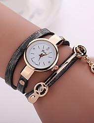 cheap -Women's Wrist Watch Wrap Bracelet Watch Quartz Quilted PU Leather Black / Blue / Red Casual Watch Analog Ladies Bohemian Fashion - Red Blue Light Blue One Year Battery Life / Jinli 377