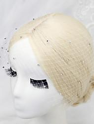 cheap -Rhinestone / Net Birdcage Veils with 1 Wedding / Special Occasion Headpiece