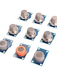 abordables -capteur de gaz module de kit MQ-2 MQ-3 MQ-4 MQ-5 MQ-6 MQ-7 MQ-8 MQ-9 MQ-135 capteur pour Arduino