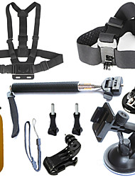 cheap -7 in 1 gopro accessory kit for gopro hero4 3 3 2 1 sj4000 sjcam sj5000 wifi