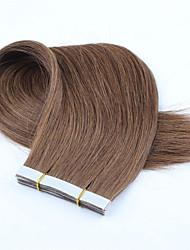 cheap -Tape In Human Hair Extensions Straight Human Hair Dark Auburn