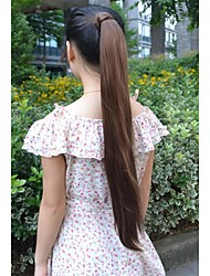 cheap -long straight volume up pongtail extension japan high temperature synthetic fiber hair extension