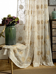 cheap -Country Curtains® One Panel Ivory Floral Embroidered Sheer Curtain Drape