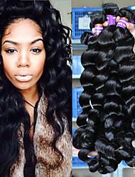 Недорогие -3 Связки Перуанские волосы Свободные волны Натуральные волосы 100% Remy Hair Weave Bundles 300 g Человека ткет Волосы 10inch-26inch Нейтральный Ткет человеческих волос Расширения человеческих волос
