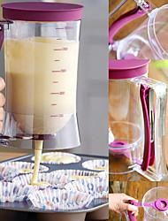 billige -900ml cupcakes pandekagedej dispenser muffin hjælper mix wienerbrød kande bagning værktøj