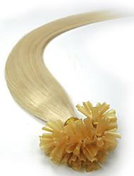 Недорогие -PANSY Fusion / с U-образным кончиком Расширения человеческих волос Прямой человеческие волосы Remy Натуральные волосы Бразильские волосы Светло-русый