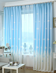cheap -One Panel  Printing Curtain Three Color Curtain Drape