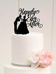 Недорогие -Украшения для торта Сказка Акрил Свадьба Годовщина Девичник с 1 Пенополиуретан