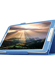 cheap -Case For Samsung Galaxy Tab E 9.6 with Stand / Flip Full Body Cases Solid Colored PU Leather