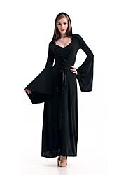 Недорогие -ведьма Косплэй Kостюмы Жен. Хэллоуин Фестиваль / праздник Полиэстер Жен. Карнавальные костюмы