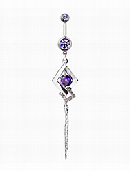 cheap -Navel Ring / Belly Piercing - Imitation Diamond Unique Design, Fashion Women's Purple / Blue Body Jewelry For Daily / Casual