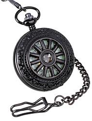 Недорогие -Муж. Карманные часы Механические часы Механические, с ручным заводом 30 m С гравировкой Аналоговый Роскошь Steampunk - Черный