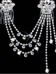 cheap -Women's Party Rhinestone Silver Plated Imitation Diamond Hair Jewelry Solid Colored / Alloy