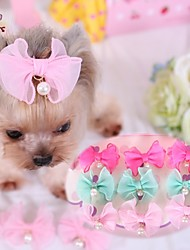 cheap -Cat Dog Hair Accessories Hair Bow Cosplay Wedding Dog Clothes Blue Pink Rose Costume Terylene