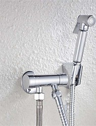 cheap -Bathroom Woman Bidet Faucet Chrome Brass Tap Copper Hand Sprayer Filling Valve