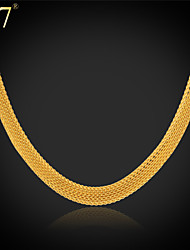cheap -Necklace Ladies Vintage Party Work 18K Gold Plated Stainless Steel Gold Plated Gold White Necklace Jewelry For Special Occasion Birthday Gift