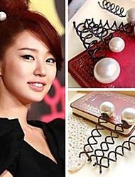 cheap -Pearl Screw Clamp Han Edition Hair Rotating Modelling Hairpin Twist