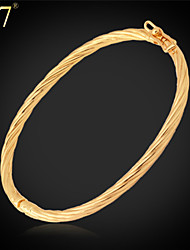 cheap -Women's Bracelet Ladies Vintage Party Work Casual 18K Gold Plated Bracelet Jewelry Gold / Silver For Special Occasion Birthday Gift Daily