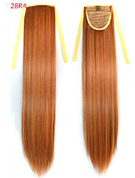 cheap -Straight Synthetic Hair Piece Hair Extension 18 inch #28