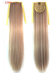 cheap -Straight Synthetic Hair Piece Hair Extension 18 inch #22