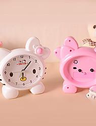 Недорогие -милый розовый кот часы будильник мультфильм приспешников сигнализация (случайный цвет)