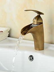 cheap -Fashionable Antique Waterfall Bathroom Sink Faucet