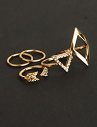 cheap -Women's Jewelry Set Gold Silver Imitation Diamond Alloy Triangle Geometric Ladies Unusual Luxury Party Jewelry