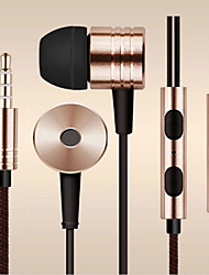 cheap -In Ear Wired Headphones Aluminum Alloy Mobile Phone Earphone with Volume Control / with Microphone / Noise-isolating Headset