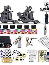 cheap -Tattoo Machine Starter Kit - 2 pcs Tattoo Machines with 6 x 5 ml tattoo inks Mini power supply Case Not Included 2 cast iron machine