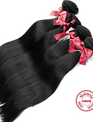 cheap -4 Bundles Malaysian Hair Straight Natural Color Hair Weaves / Hair Bulk Human Hair Weaves Human Hair Extensions / 8A