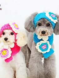 Недорогие -Собаки / Коты Банданы и шляпы Красный / Синий / Желтый Зима Свадьба / Косплей