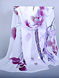 cheap -Women's Outdoor Chiffon Rectangle Scarf - Floral Basic / Fabric