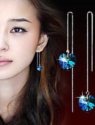 cheap -Women's Crystal Drop Earrings Hanging Earrings Silver Plated Earrings Jewelry Screen Color For