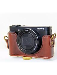Недорогие -dengpin® пу кожаный чехол для камеры сумка крышка с плечевым ремнем для Sony DSC-hx90v hx90 wx500 (ассорти цветов)