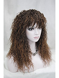 cheap -Synthetic Wig Curly Curly With Bangs Wig Long Brown Synthetic Hair Women's With Bangs Brown StrongBeauty