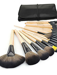 cheap -Professional Makeup Brushes Makeup Brush Set 24pcs Portable Travel Eco-friendly Professional Full Coverage Hypoallergenic Limits Bacteria Wood Makeup Brushes for Eyeliner Brush Blush Brush Foundation
