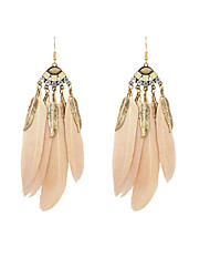 cheap -Women's Drop Earrings Feather Ladies Native American Feather Earrings Jewelry White / Green / Camel For Wedding Party Daily Casual Sports