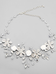 cheap -Women's White Crystal Necklace Imitation Pearl Rhinestone Alloy White Necklace Jewelry For Wedding Party Engagement