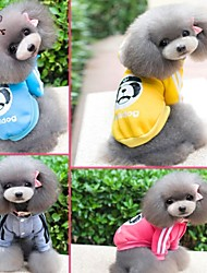 cheap -Cat Dog Jumpsuit Winter Dog Clothes Yellow Blue Rose Costume Cotton Cartoon Sports Fashion S M L XL XXL