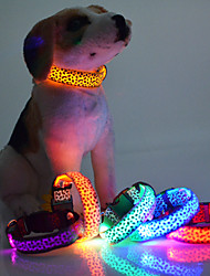 cheap -LED Lighting Leopard Collars Pet Collars Dog Collars