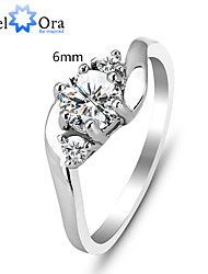 cheap -Women's Band Ring Cubic Zirconia Silver Sterling Silver Cubic Zirconia Fashion Party Jewelry