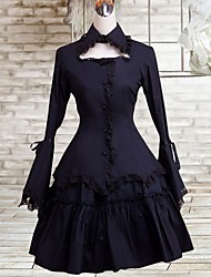 cheap -Dress Gothic Lolita Dress Women's Lolita Accessories Dress Cotton Halloween Costumes / Medium Length