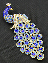 cheap -Women's Brooches Peacock Vintage Fashion Gold Plated Brooch Jewelry Royal Blue For Party Special Occasion